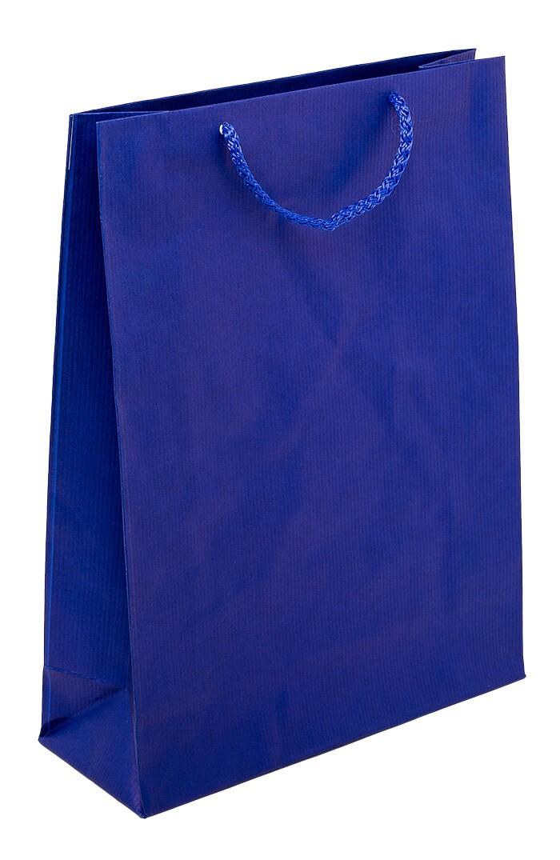Papiertüte mit Kordelhenkel EKO PRESTIGE marineblau