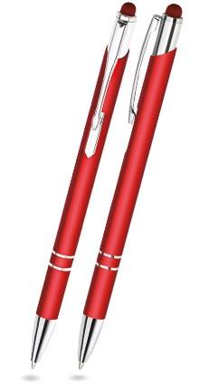 CST-06 Kugelschreiber Touch Pen. Rot - matt.