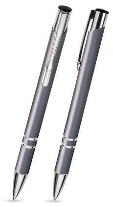 C-22 Kugelschreiber. Grau - matt.