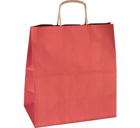 Papiertasche mit Papierkordel EKO PLUS rot