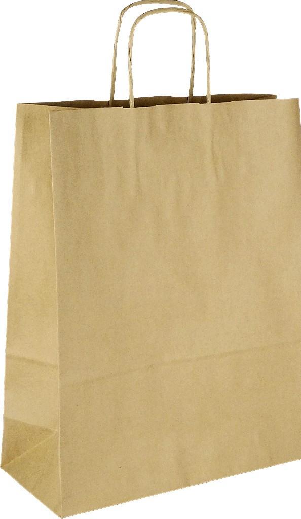 PS105G001 Papiertasche mit Papierkordel EKO PLUS braun glatt.