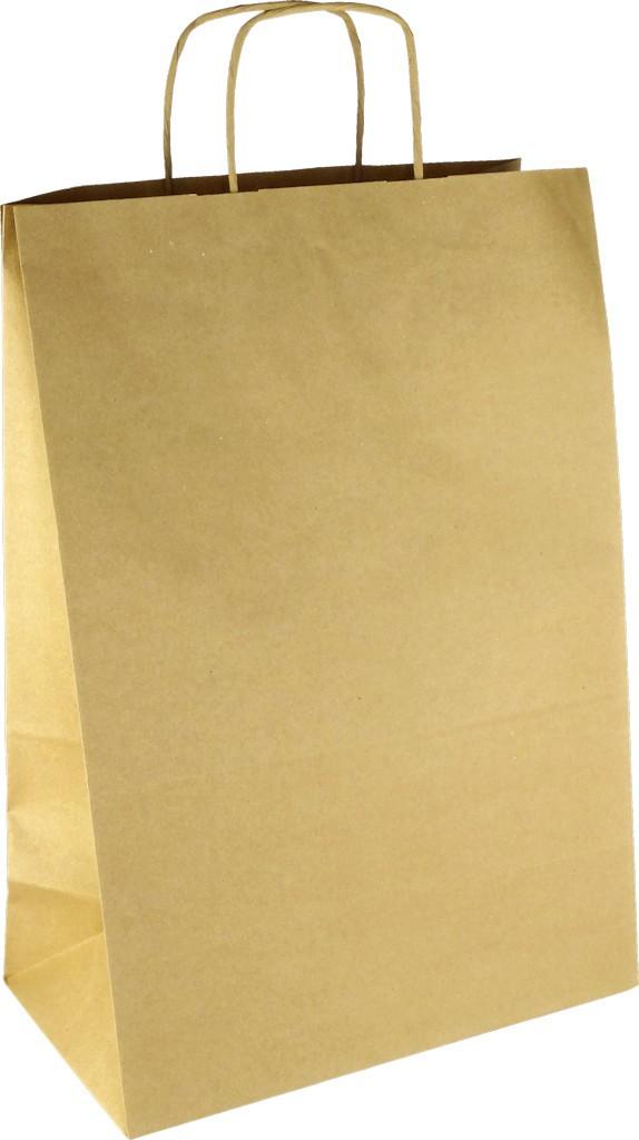 PS107G001 Papiertasche mit Papierkordel EKO PLUS braun glatt