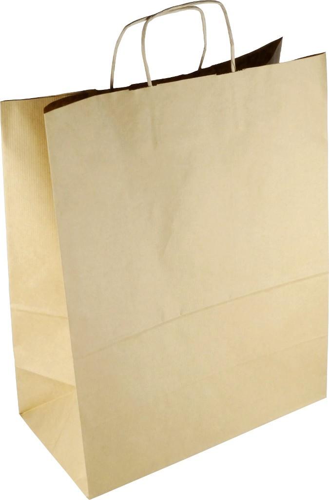 PS112R001 Papiertasche mit Papierkordel EKO PLUS braun gerippt