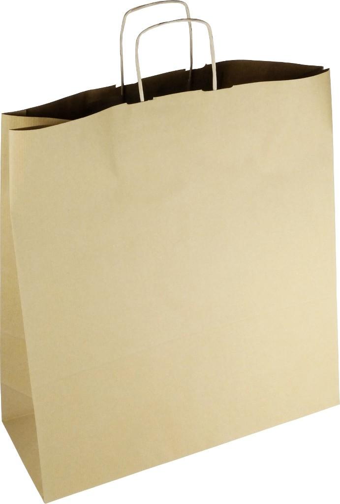 PS116G001 Papiertasche mit Papierkordel EKO PLUS braun/glatt
