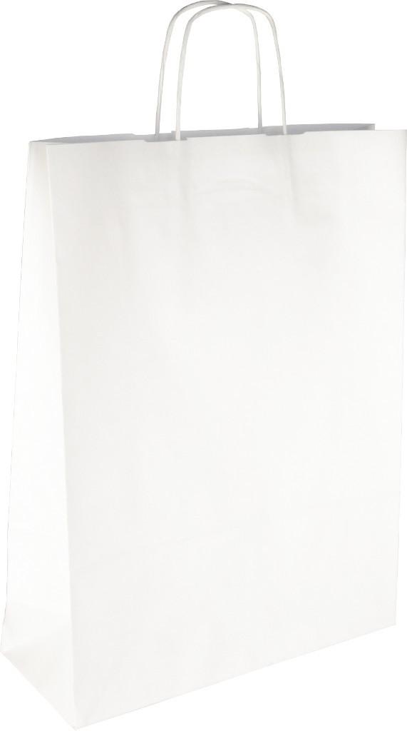 PS2080 Papiertasche mit Papierkordel EKO PLUS weiß glatt