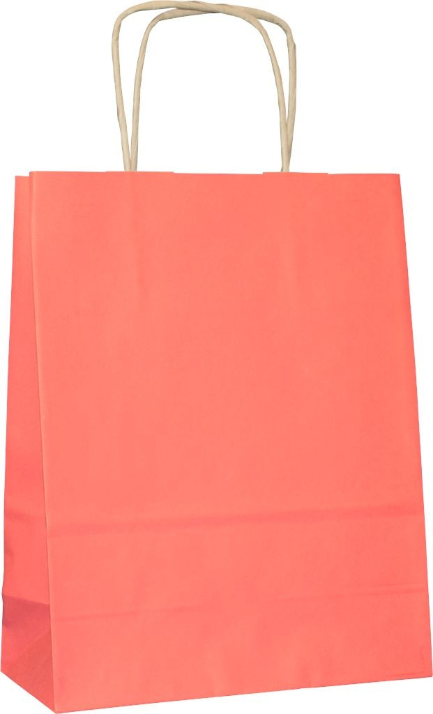 PS3014G - Papiertasche mit Papierkordel EKO PLUS, braun glatt, vollflächig bedruckt - ROT