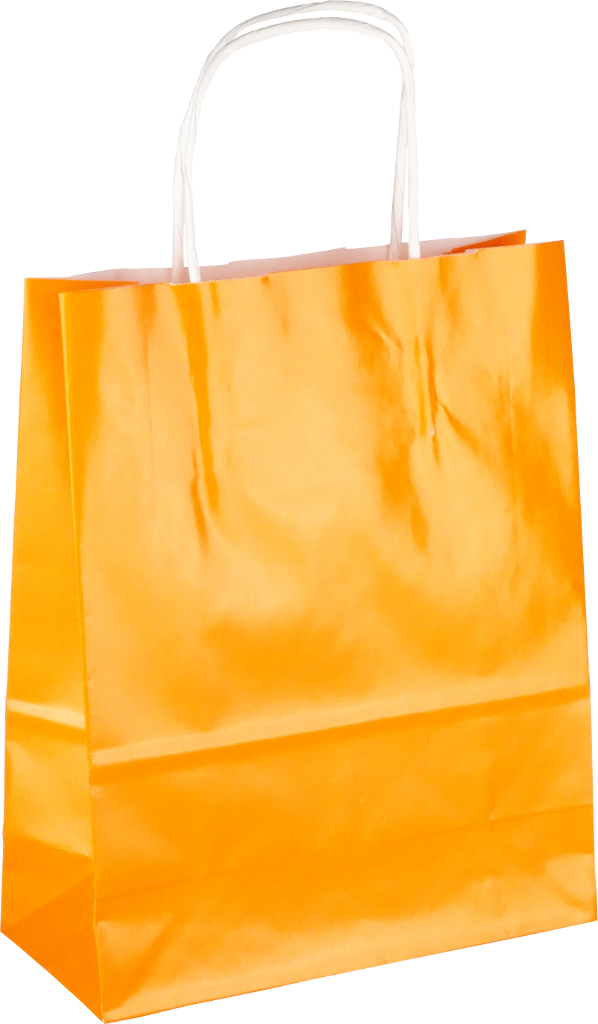 Papiertasche mit Papierkordel EKO PLUS orange