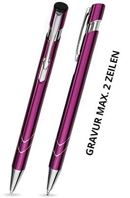 S-18 Kugelschreiber. Hellpurpur - glänzend.