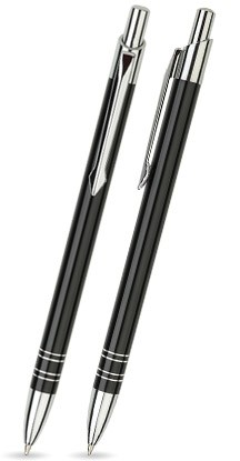 B-01 Kugelschreiber. Schwarz - glänzend.