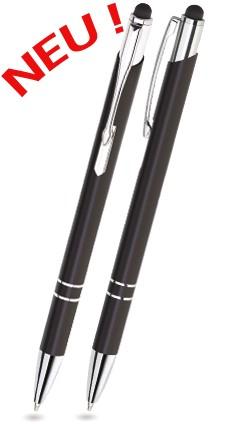BET-01 Kugelschreiber Touch Pen BELLO. Schwarz - glänzend.