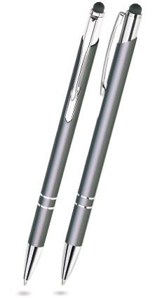 BET-22 Kugelschreiber Touch Pen BELLO. Grau (matt).