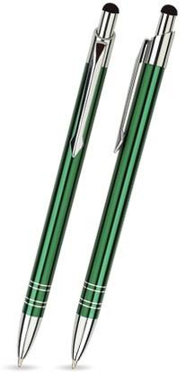 BT-13 Kugelschreiber Touch Pen. Dunkelgrün - glänzend.
