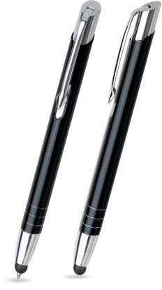 MT-01 Kugelschreiber Touch Pen. Schwarz - Lack.