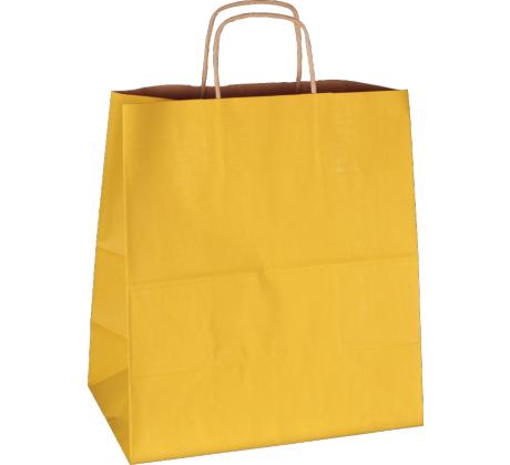 PS3069 Papiertasche mit Papierkordel EKO PLUS gelb.