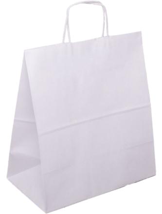 PS2150 Papiertasche mit Papierkordel EKO PLUS weiß glatt.