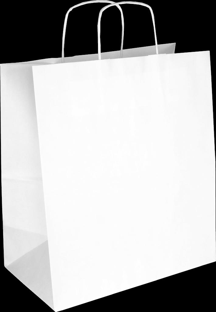 PS2060 Papiertasche mit Papierkordel EKO PLUS weiß glatt.