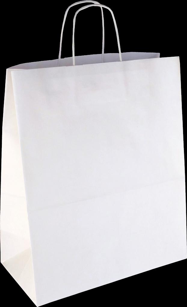 PS2090 Papiertasche mit Papierkordel EKO PLUS weiß glatt.