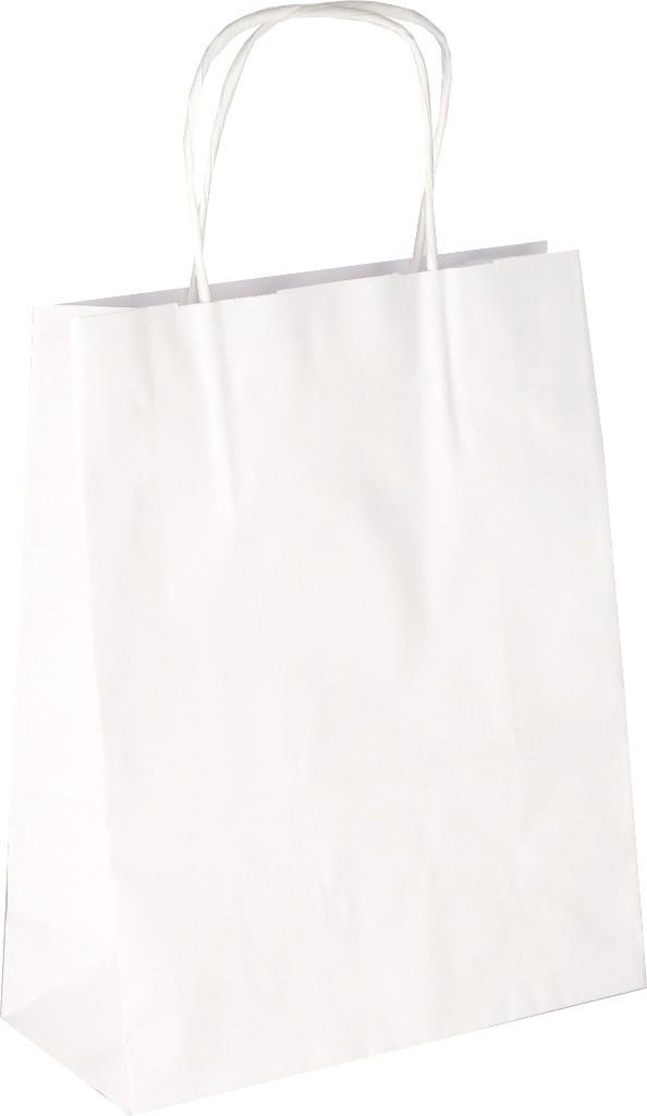 PS201G001 Papiertasche mit Papierkordel EKO PLUS weiß glatt
