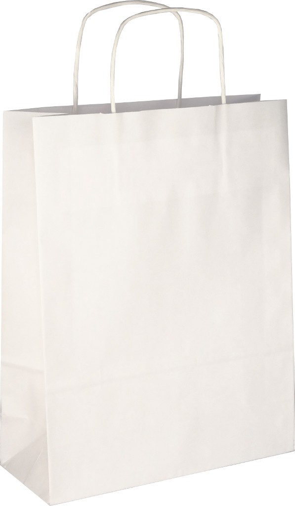 PS2030 Papiertasche mit Papierkordel EKO PLUS weiß glatt.