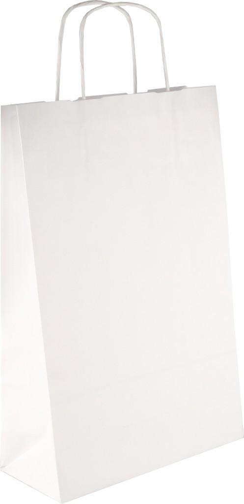 PS2040 Papiertasche mit Papierkordel EKO PLUS weiß glatt.