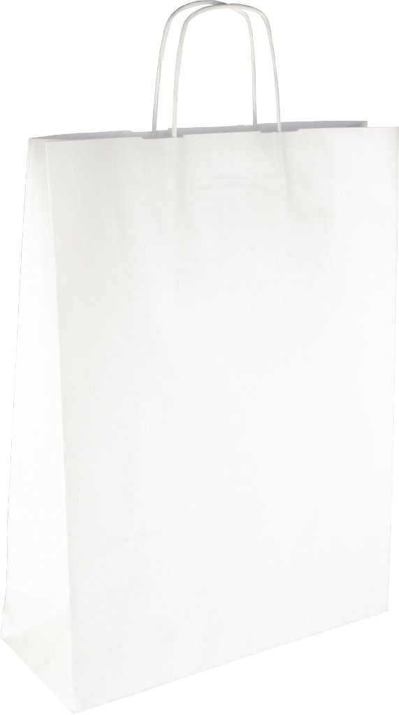 PS2070 Papiertasche mit Papierkordel EKO PLUS weiß glatt.