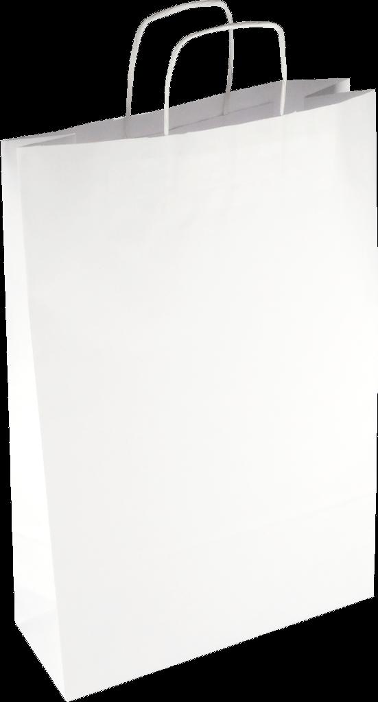 PS2120 Papiertasche mit Papierkordel EKO PLUS weiß glatt.