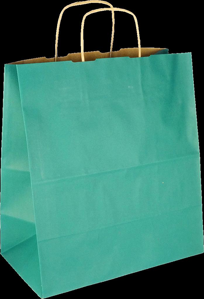 PS3067 Papiertasche mit Papierkordel EKO PLUS grün.
