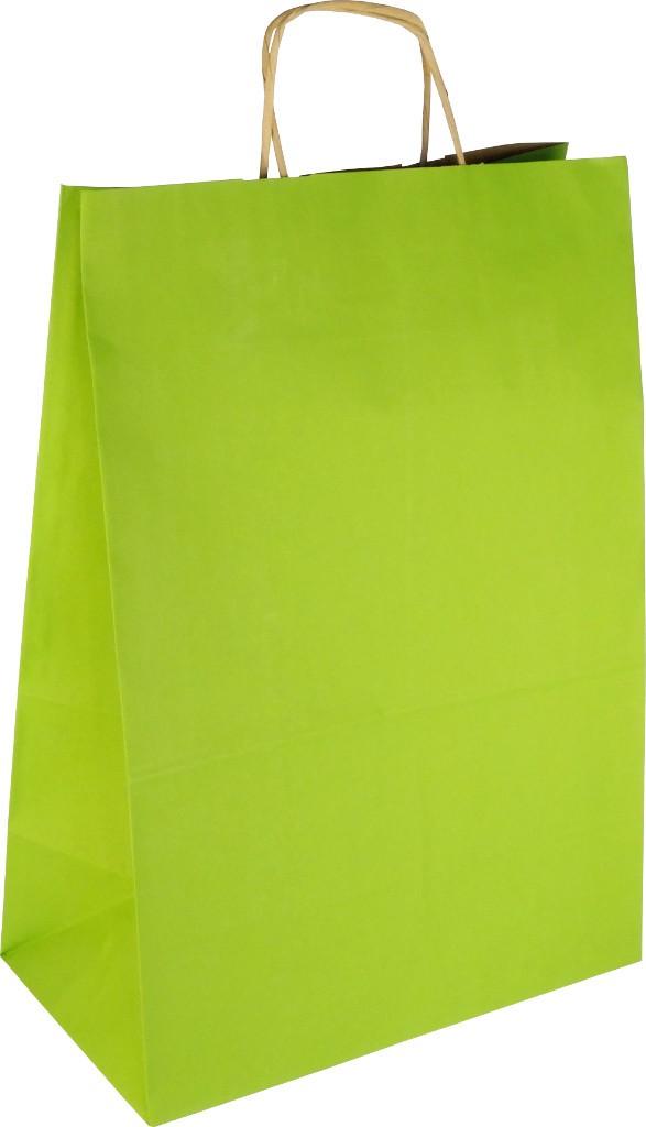 PS3078 Papiertasche mit Papierkordel EKO PLUS hellgrün.