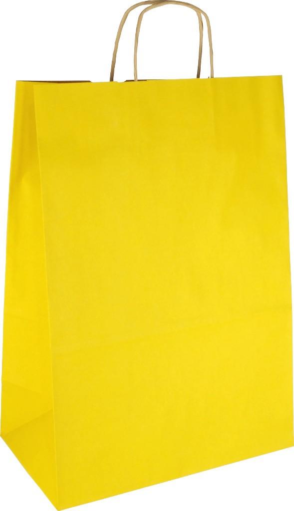 Papiertasche mit Papierkordel EKO PLUS gelb
