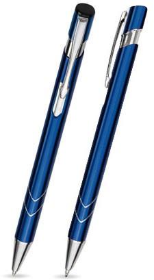 S-10 Kugelschreiber. Dunkelblau - glänzend.