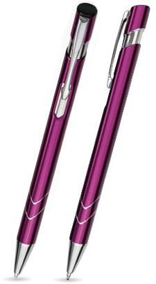 S-18 Kugelschreiber. Hell Purpur - glänzend.