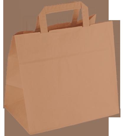 Papiertasche braun - kleine Konditortasche