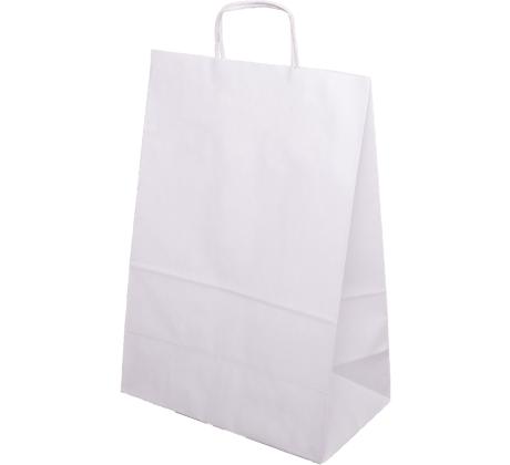 Papiertasche mit Papierkordel EKO PLUS weiß