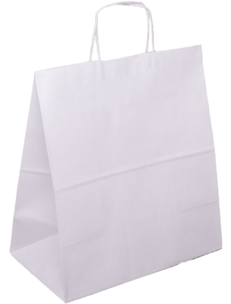 PS215G002 med snoet papirhåndtag hvid 400x180x390 mm