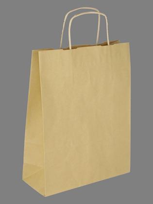 Papiertasche mit Papierkordel EKO PLUS braun.