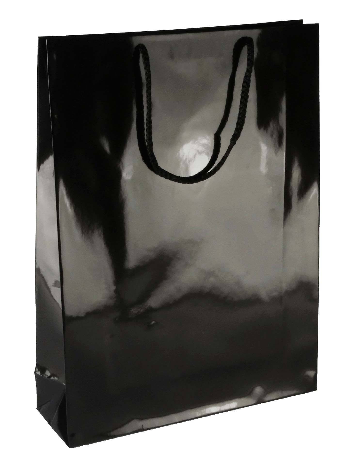 PL1043 Laminated Paper Bag - BLACK