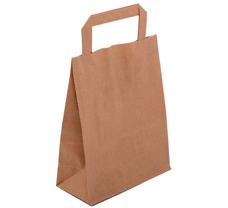 Papiertasche mit Flachhenkel